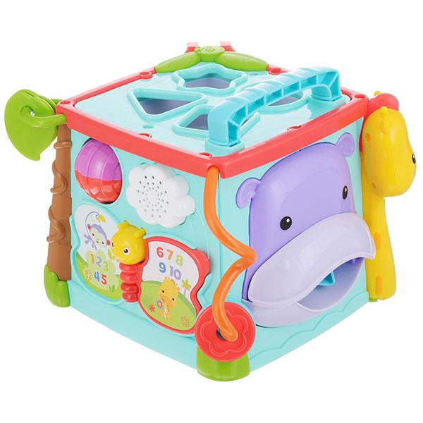 Купить Mattel Fisher-Price GHT89 Фишер Прайс Большой музыкальный игровой куб, Развивающие игрушки для малышей Mattel Fisher-Price