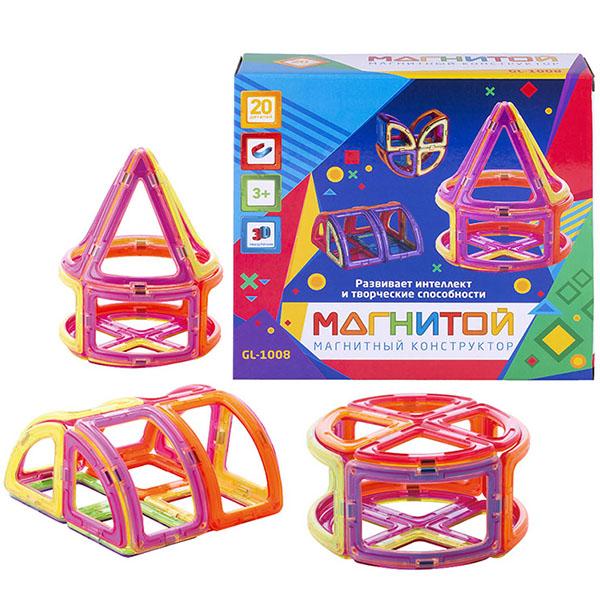 Купить Магнитой GL-1008 Конструктор магнитный Конус (20 деталей, 2 - с окном), Конструкторы Магнитой