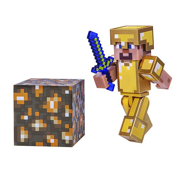 Купить Minecraft 16488 Майнкрафт фигурка Steve in Gold Armor, Минифигурка Minecraft