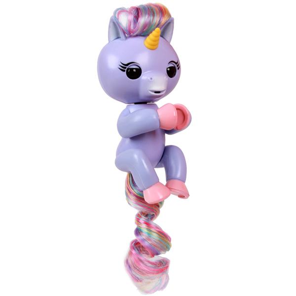 FINGERLINGS 3709M Интерактивный единорог Алика (пурпурный),12 см - Интерактивные игрушки