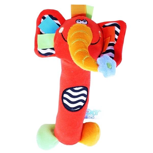 Купить ROXY-KIDS RBT20014 Игрушка развивающая Слоненок Сквикер . Пищалка внутри. Размер 18 см, Развивающие игрушки для малышей ROXY-KIDS