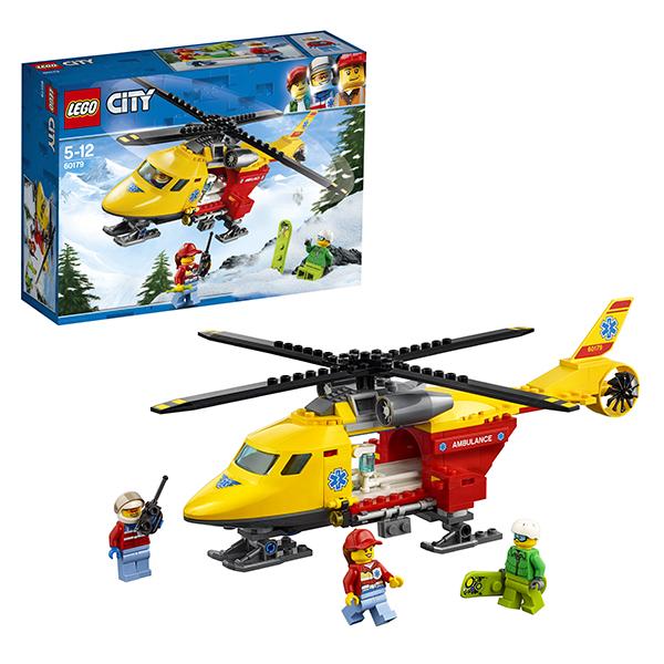 Купить Lego City 60179 Лего Город Вертолёт скорой помощи, Конструкторы LEGO