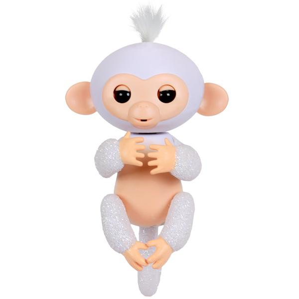 FINGERLINGS 3763M Интерактивная обезьянка ШУГАР (белая),12 см - Интерактивные игрушки