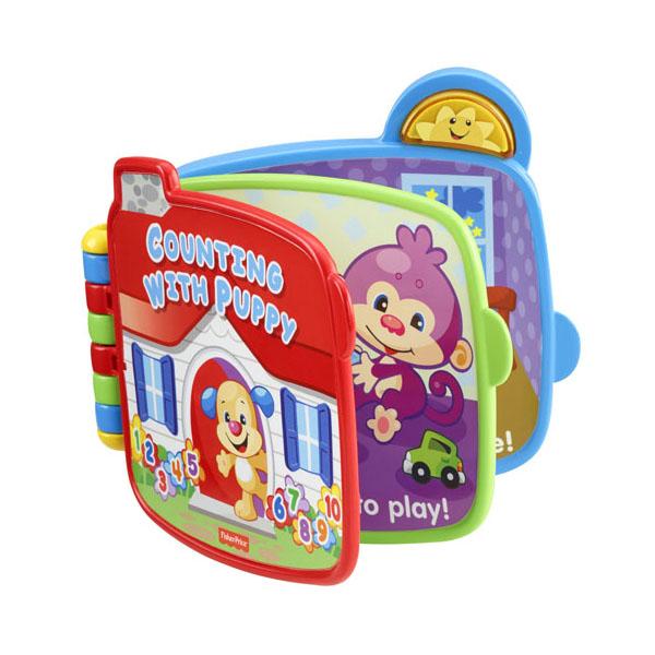 Купить Mattel Fisher-Price CJW66 Фишер Прайс Книжка Считаем с Ученым Щенком , Развивающие игрушки для малышей Mattel Fisher-Price
