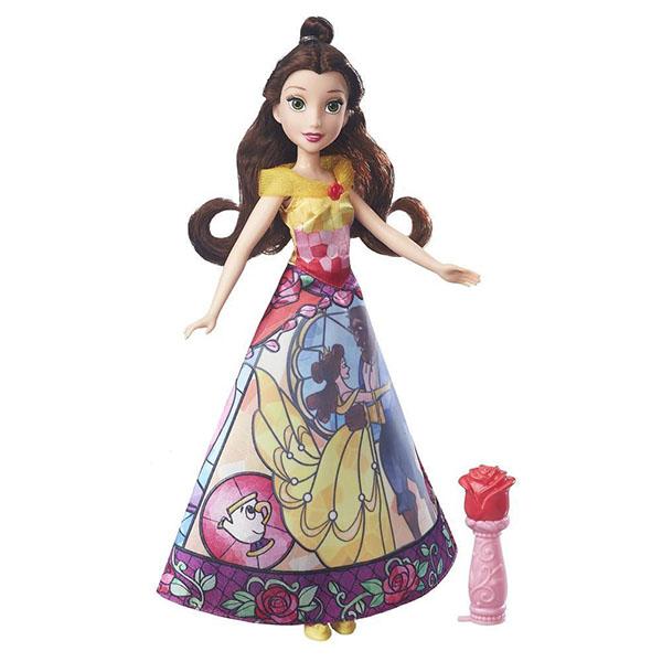 Купить Hasbro Disney Princess B5295/B6850 Модная кукла Принцесса с проявляющимся принтом Белль, Куклы и пупсы Hasbro Disney Princess
