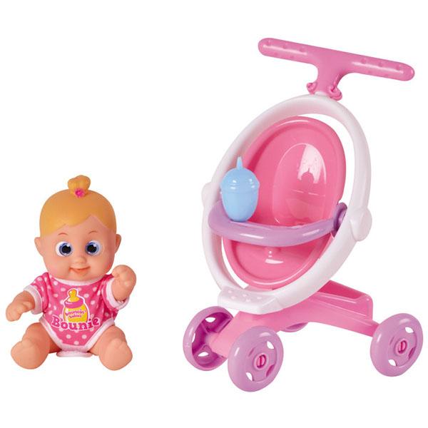 Bouncin' Babies 803004 Кукла Бони с коляской, 16 см - Куклы и аксессуары