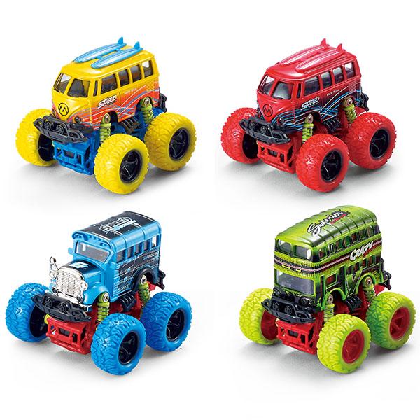 Купить Wincars YK-2206 Автобус с большими колёсами инерционный металл.10 см (в ассортименте), Игрушечные машинки и техника ТМ Wincars