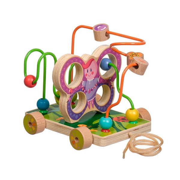 """Деревянные игрушки Игрушки из дерева D116 Лабиринт """"Бабочка"""" малая фото"""