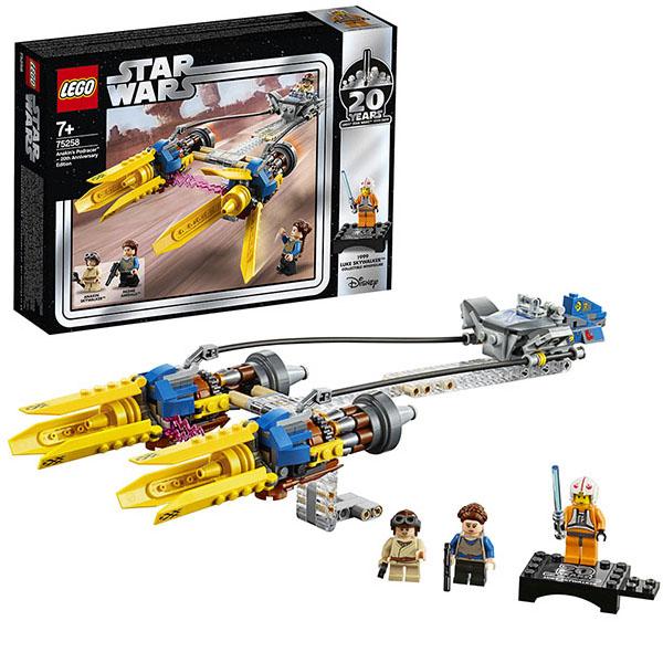 Купить LEGO Star Wars 75258 Конструктор ЛЕГО Звездные Войны Гоночная капсула Энакина выпуск к 20-му юбилею, Конструкторы LEGO