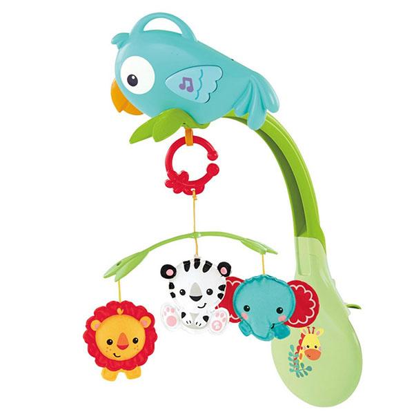 Купить Mattel Fisher-Price CHR11 Фишер Прайс Мобиль 3в1 Друзья из тропического леса , Мобили для малышей Mattel Fisher-Price