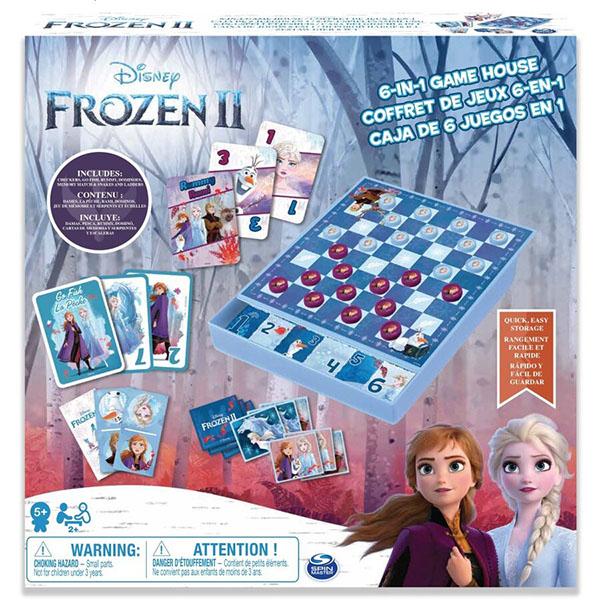 Настольные игры Spin Master 6053753 Спин Мастер Настольная игра Холодное сердце 6 в 1 фото