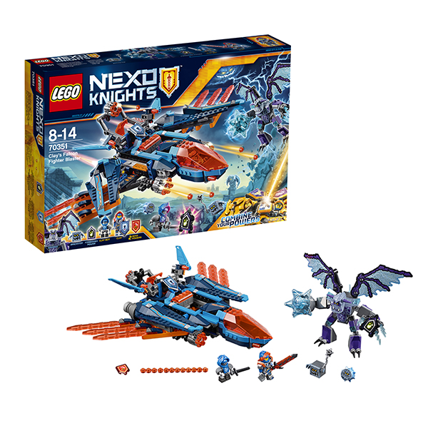 Lego Nexo Knights 70351 Конструктор Лего Нексо Самолёт-истребитель Сокол Клэя, арт:145687 - LEGO, Конструкторы для мальчиков и девочек