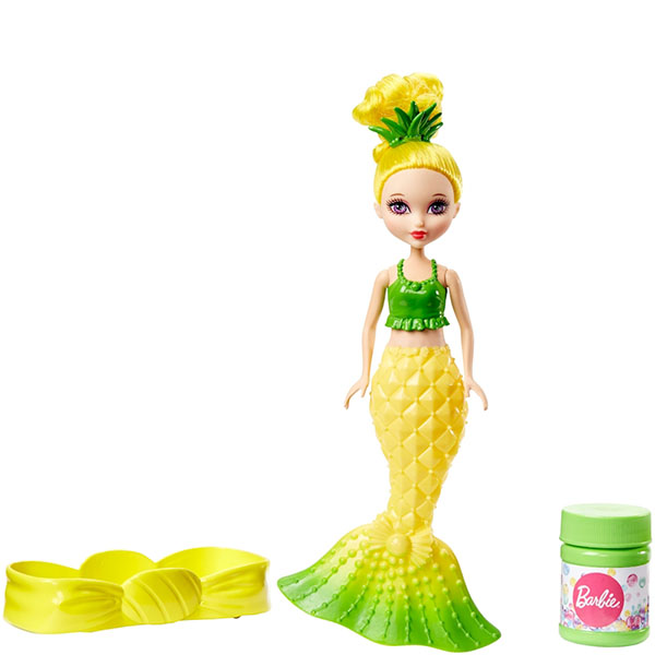 Купить Mattel Barbie DVM99 Барби Маленькие русалочки с пузырьками Модная, Кукла Mattel Barbie