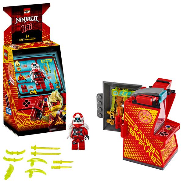 Купить LEGO Ninjago 71714 Конструктор ЛЕГО Ниндзяго Игровая капсула для аватара Кая, Конструкторы LEGO