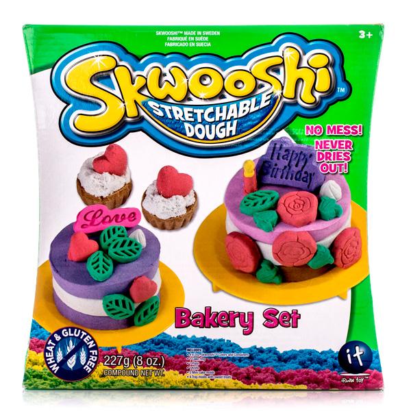 Купить Skwooshi S30022 Сквуши Набор для творчества Выпечка - масса для лепки и аксессуары, Пластилин Skwooshi