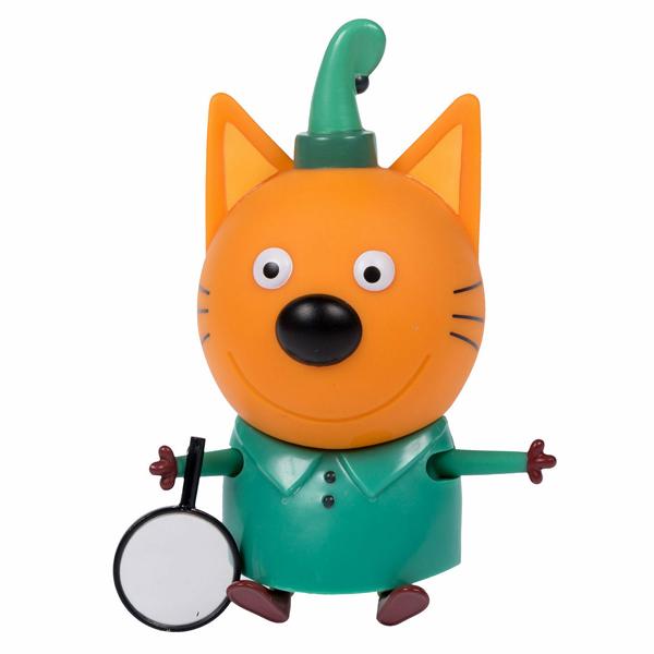 """Игровые наборы и фигурки для детей Три кота T16177 Фигурка """"Компот"""" с лупой, 7,6 см, подвижные ножки и ручки, на блистере фото"""