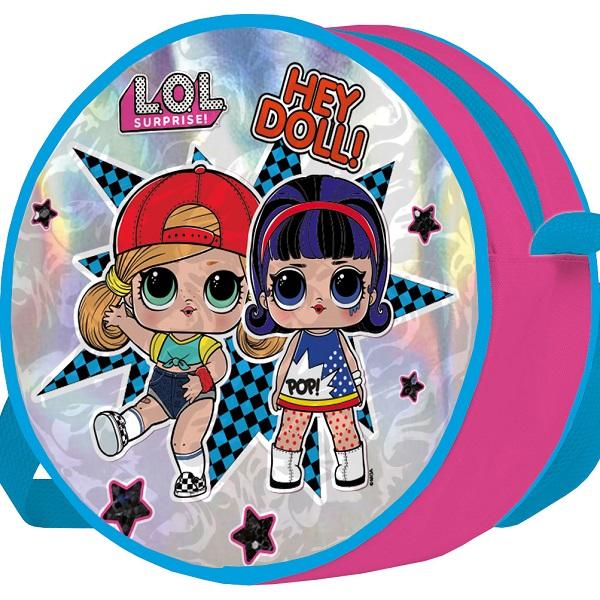 LOL LOHS-UA1-460 Сумка круглая с панелью из голографического ПВХ по цене 499