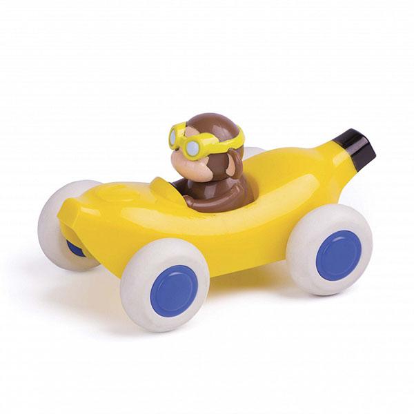 Игрушечные машинки и техника Vikingtoys — Vikingtoys 81363 Машинка-банан, с Обезьянкой