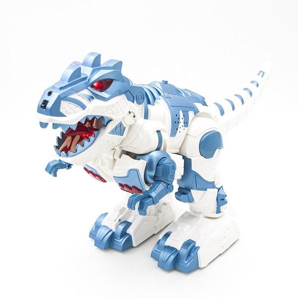 HK Industries 6028A Робот-Динозавр (трансформер),белый с синим, р/у - Игровые наборы