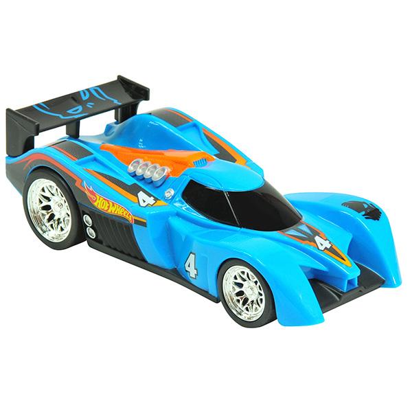 Купить Hot Wheels HW90561 Машинка Хот вилс на батарейках со светом механическая, синяя 14 см, Машинка Toy State