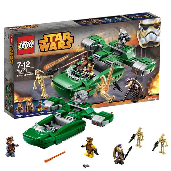 Купить Lego Star Wars 75091 Конструктор Лего Звездные Войны Флэш Спидер, Конструктор LEGO