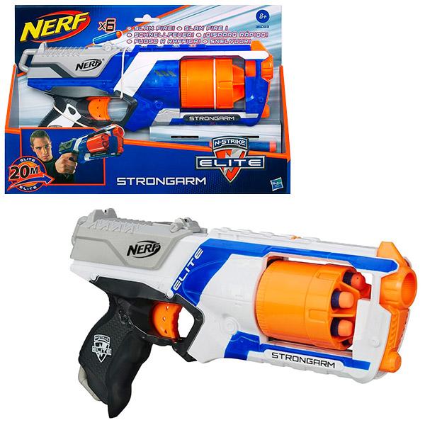Купить Hasbro Nerf 36033 Нерф Бластер Элит Стронгарм (в ассортименте), Бластер Hasbro Nerf