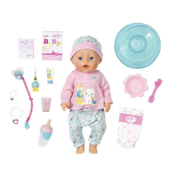 Купить Zapf Creation Baby born 827-086 Бэби Борн Кукла Интерактивная Чистим зубки, 43 см, Куклы и пупсы Zapf Creation