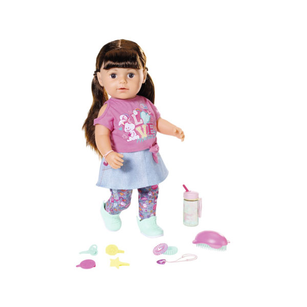 Купить Zapf Creation Baby born 827-185 Бэби Борн Кукла Сестричка, брюнетка, 43 см, Куклы и пупсы Zapf Creation