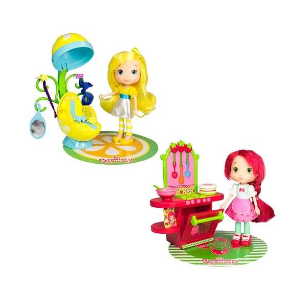 Купить Strawberry Shortcake 12240 Шарлотта Земляничка Кукла 15 см и кафе/салон, 2 (в ассортименте), Кукла Strawberry Shortcake