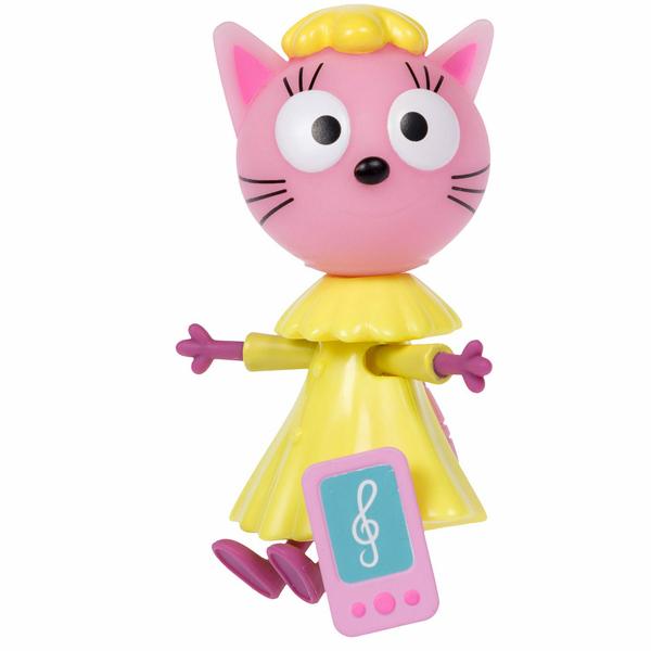 """Игровые наборы и фигурки для детей Три кота T16178 Фигурка """"Лапочка"""" с телефончиком, 7,6 см, подвижные ножки и ручки, на блистере фото"""