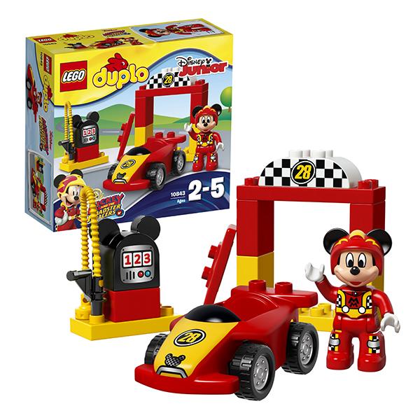 Купить LEGO DUPLO 10843 Конструктор ЛЕГО ДУПЛО Гоночная машина Микки, Конструктор LEGO