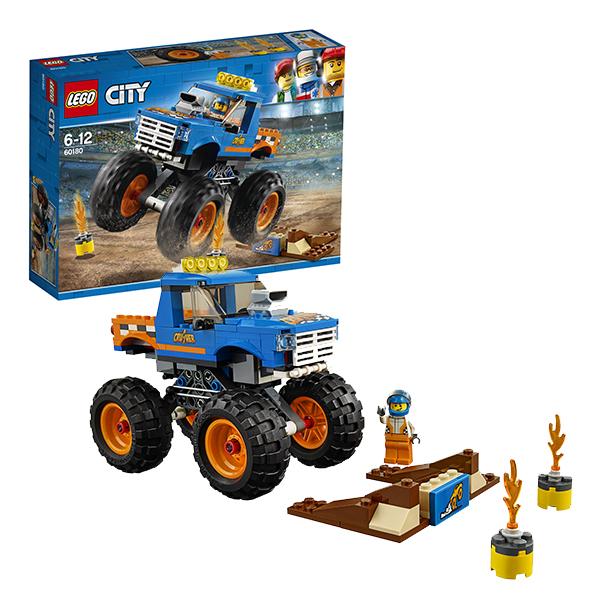 Купить LEGO City 60180 Конструктор ЛЕГО Город Монстр-трак, Конструкторы LEGO