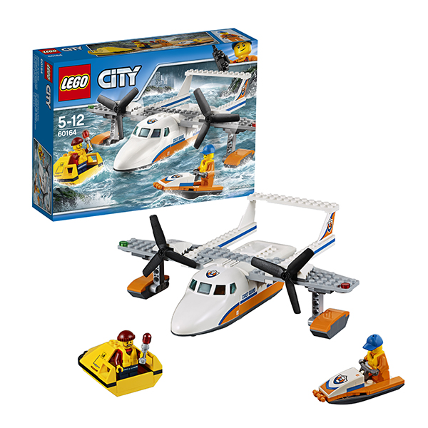 Lego City 60164 Конструктор Лего Город Спасательный самолет береговой охраны, арт:149788 - Город, Конструкторы LEGO