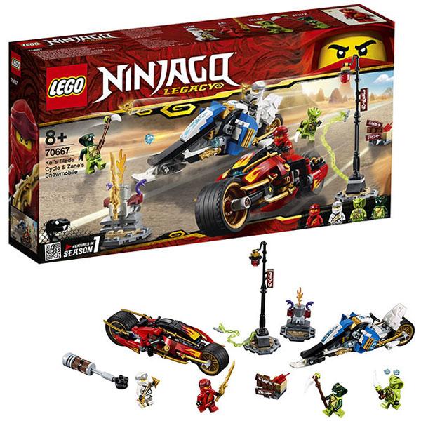Купить Lego Ninjago 70667 Конструктор Лего Ниндзяго Мотоцикл-клинок Кая и снегоход Зейна, Конструкторы LEGO