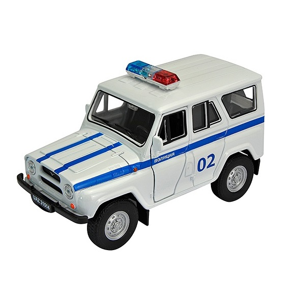 Машинка инерционная Welly 42380PB Велли Модель машины 1:34-39 УАЗ 31514 Полиция