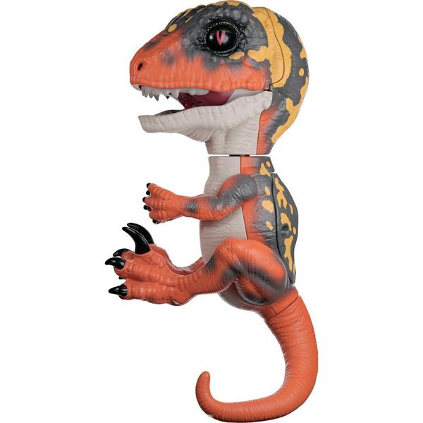 FINGERLINGS UNTAMED DINO 3781M Интерактивный динозавр Блейз (зеленый с оранжевым) 12 см, арт:154353 - Динозавры , Интерактивные игрушки