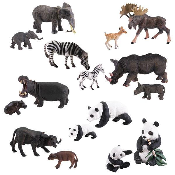 """Игровые наборы и фигурки для детей Игрики ZOO TAV006 Фигурка """"Травоядные с потомством"""", 8 видов (в ассортименте) фото"""