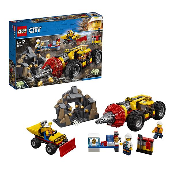 Купить Lego City 60186 Лего Город Тяжелый бур для горных работ, Конструкторы LEGO