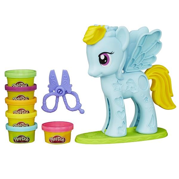 Купить Hasbro Play-Doh B0011 Игровой набор Стильный салон Рэйнбоу Дэш , Набор для творчества Hasbro Play-Doh
