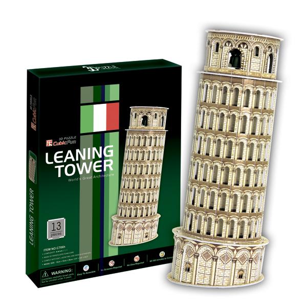 3D пазлы Cubic Fun C706h Кубик фан Пизанская башня (Италия)