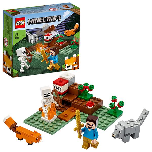 Купить LEGO Minecraft 21162 Конструктор ЛЕГО Майнкрафт Приключения в тайге, Конструкторы LEGO