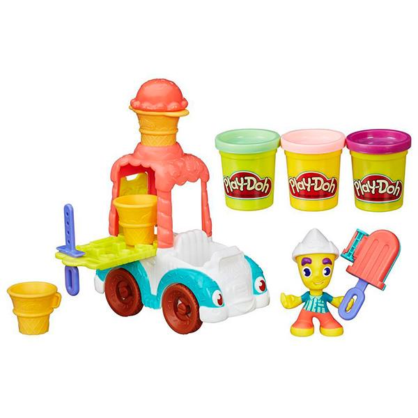 Купить Hasbro Play-Doh B3417 Игровой набор Грузовичок с мороженым , Пластилин Hasbro Play-Doh