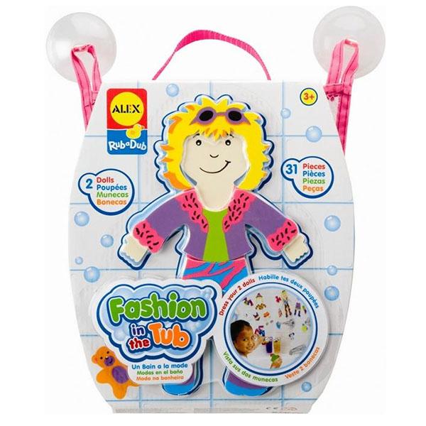 Купить ALEX 806M Набор фигурок-стикеров для ванны Одень куклу , Игрушки для ванной ALEX