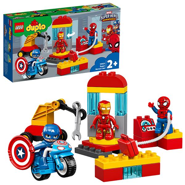 Купить LEGO DUPLO 10921 Конструктор ЛЕГО ДУПЛО Super Heroes Лаборатория супергероев, Конструкторы LEGO
