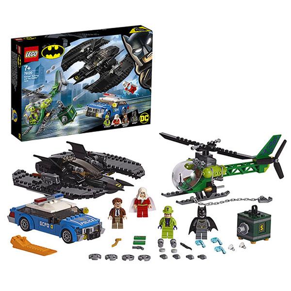 Купить LEGO Super Heroes 76120 Конструктор ЛЕГО Супер Герои Бэткрыло Бэтмена и ограбление Загадочника, Конструктор LEGO