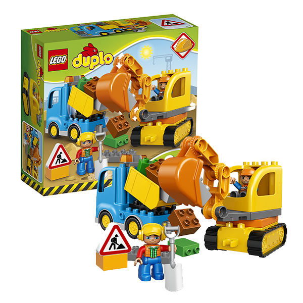 Купить Lego Duplo 10812 Конструктор Лего Дупло Грузовик и гусеничный экскаватор, Конструктор LEGO