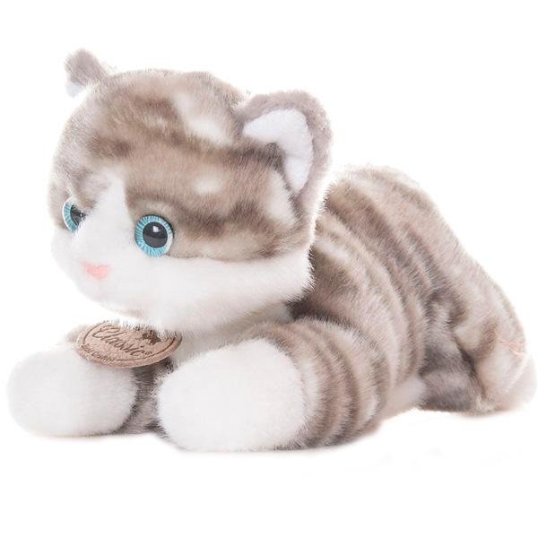 Купить Aurora 22-302 Аврора Котик серый, 22 см, Мягкая игрушка Aurora