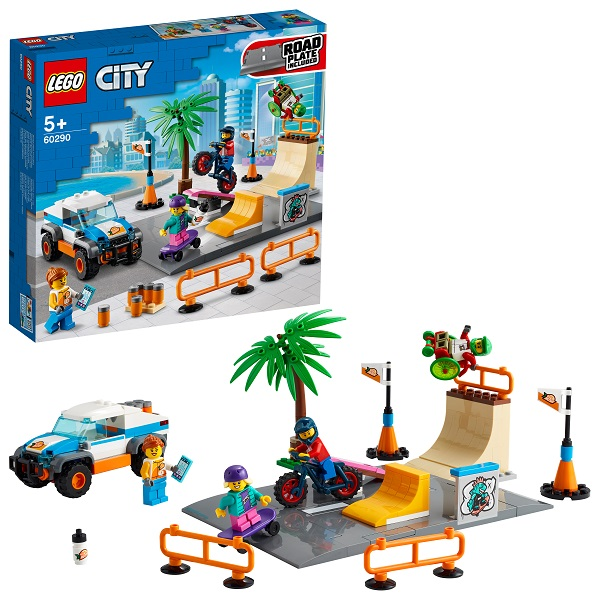 Купить LEGO City 60290 Конструктор ЛЕГО Город Скейт-парк, Конструкторы LEGO