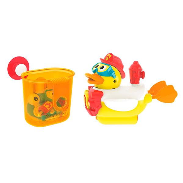 """Yookidoo 40172 Игрушка водная """"Утка-пожарный"""" с водометом и аксессуарами, Игрушки для ванной Yookidoo  - купить со скидкой"""