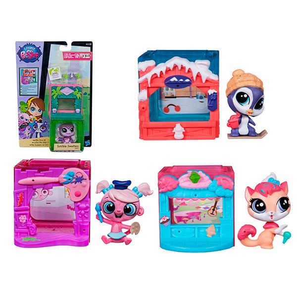 Купить Hasbro Littlest Pet Shop B0092 Литлс Пет Шоп Игровой тематический набор (в ассортименте), Фигурка Hasbro Littlest Pet Shop